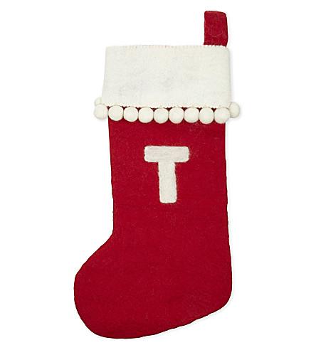 STOCKINGS 'T' medium felt stocking