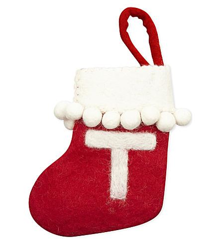 STOCKINGS 'T' mini felt stocking