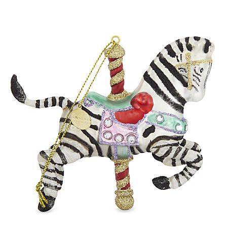 HANGING ORNAMENT Zebra carousel hanging ornament 10cm