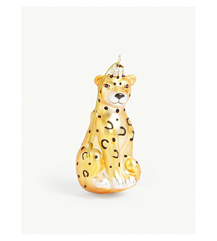 HANGING ORNAMENT Leopard hanging ornament 12.5cm