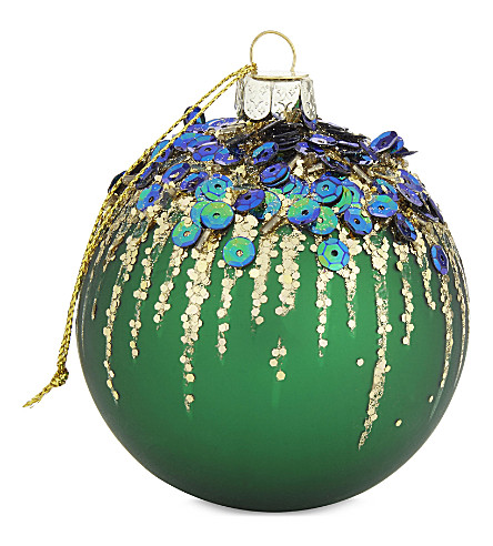 HANGING ORNAMENT Sequin firework bauble
