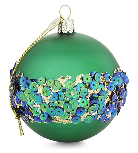 HANGING ORNAMENT Sequin band bauble 9cm