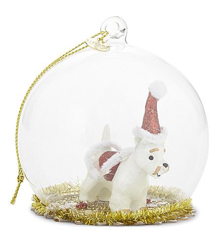 HANGING ORNAMENT Snow globe bauble 8cm