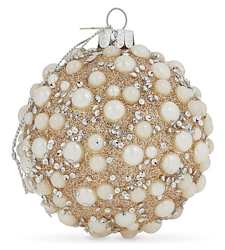 HANGING ORNAMENT Beaded bauble 10cm