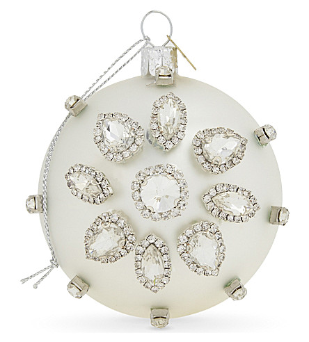 HANGING ORNAMENT Crystal Christmas tree bauble 7.5cm