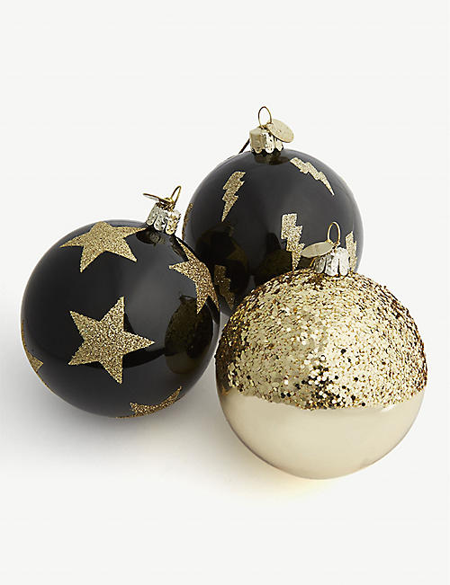 christmas christmas baubles 9 pack