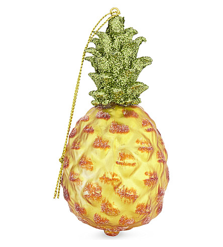 HANGING ORNAMENT Pineapple tree decoration 11cm