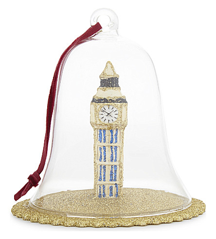 HANGING ORNAMENT Figurine Big Ben dome bauble 10cm