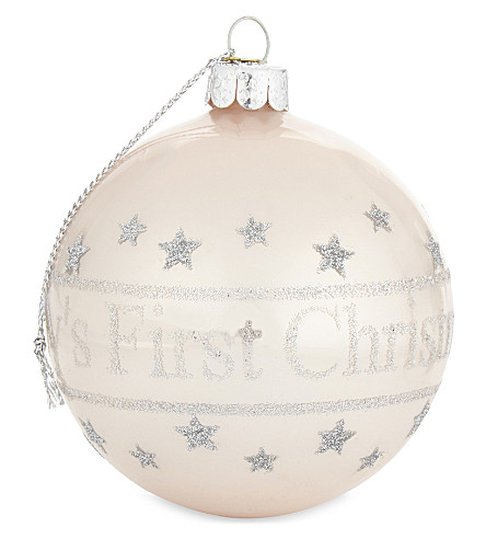 HANGING ORNAMENT Baby's First Christmas bauble 8cm