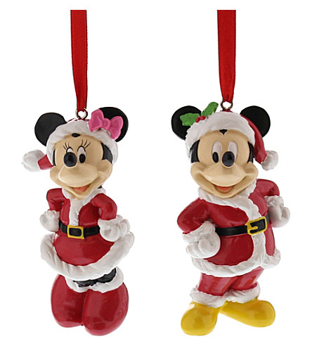 hanging ornament mickey and minnie mouse christmas decorations
