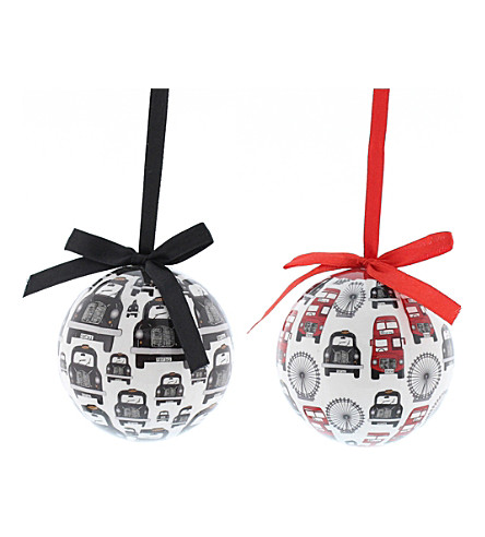 HANGING ORNAMENT London Icons Christmas baubles 7cm