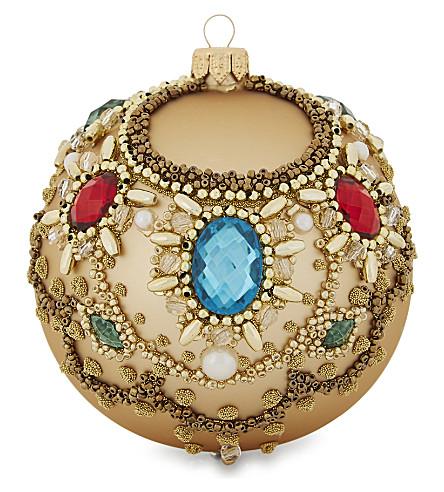 HANGING ORNAMENT Embellished bauble 10cm