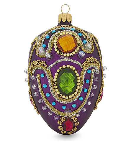 HANGING ORNAMENT Fabergé egg decoration 11cm