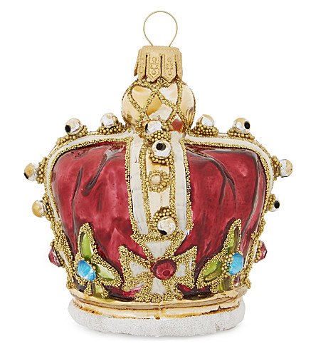 HANGING ORNAMENT Royal crown tree decoration 7.5cm