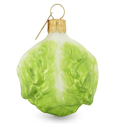 CHRISTMAS Brussell sprout baubles set of three