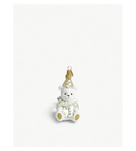 CHRISTMAS Teddy hanging ornament 10.5cm