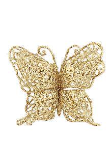 GISELA GRAHAM Glitter butterfly clip 10cm