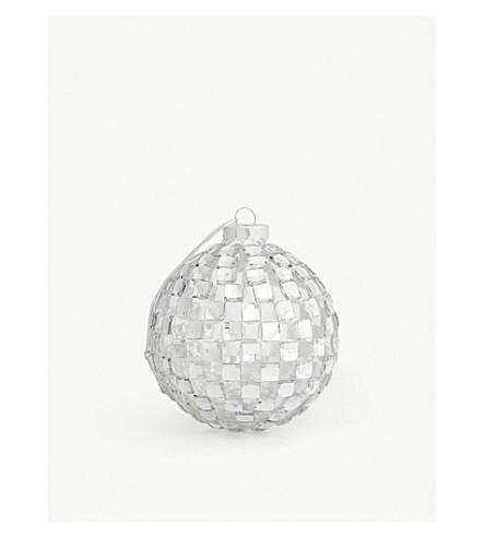 GISELA GRAHAM Crystal-embellished glass bauble 8cm