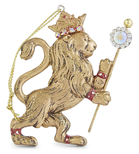 HANGING ORNAMENT Regal lion hanging ornament