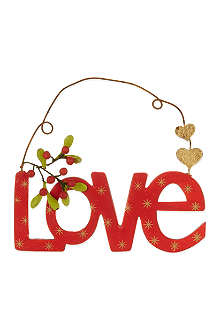 GISELA GRAHAM Love hanging decoration 13cm