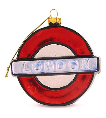 HANGING ORNAMENT London underground hanging ornament 9cm