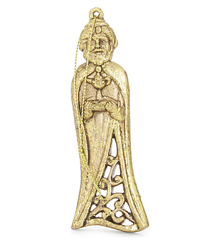 HANGING ORNAMENT Moulded three kings tree decoration 11cm
