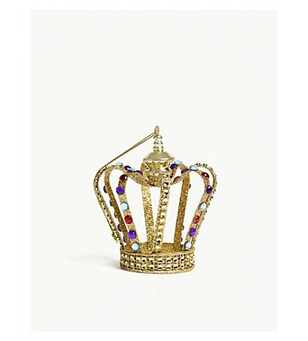 HANGING ORNAMENT Glitter crown hanging ornament 10cm