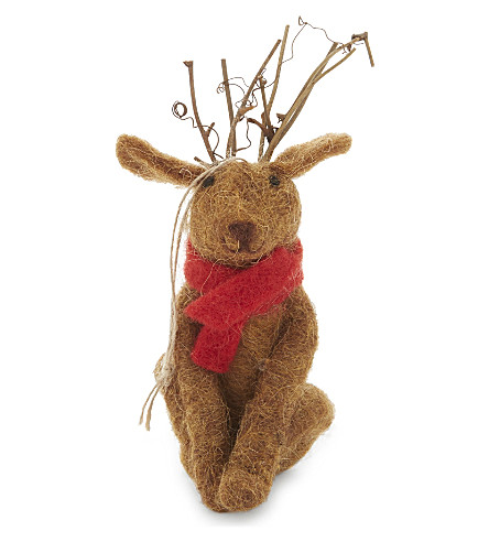 HANGING ORNAMENT Dog with antlers hanging decoration 17cm