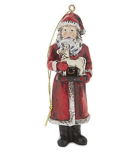 HANGING ORNAMENT Father Christmas hanging decoration 10cm