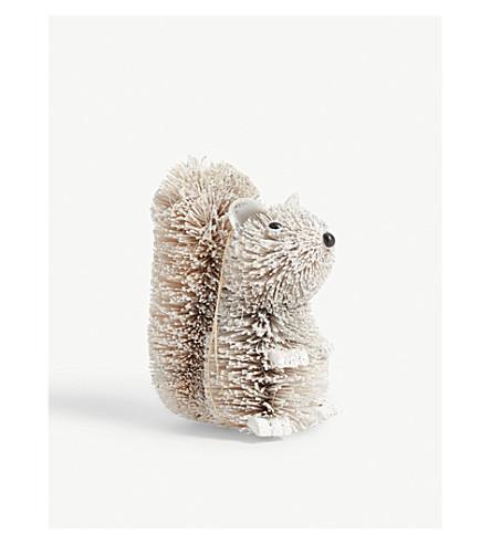 GISELA GRAHAM Bristle squirrel bauble 9cm