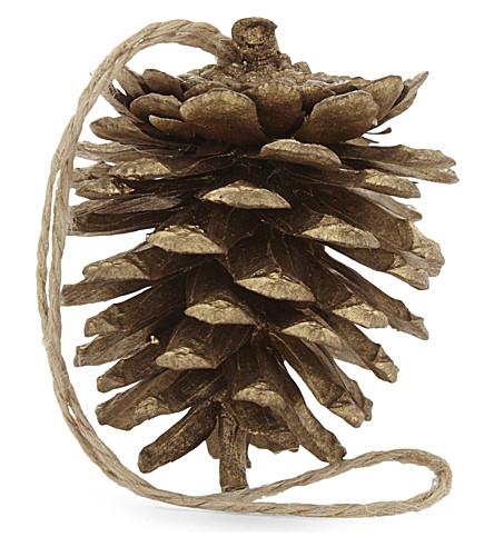 HANGING ORNAMENT Cone hanging ornament set of six 5cm