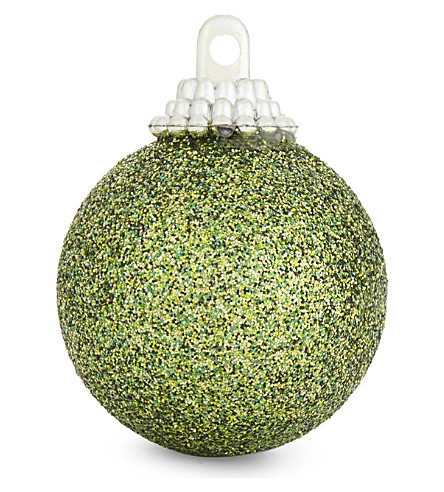 HANGING ORNAMENT Glitter baubles set of 12 3.5cm
