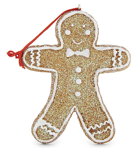 HANGING ORNAMENT Resin gingerbread man hanging decoration