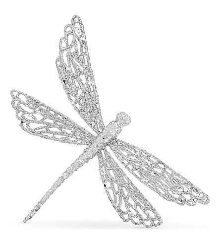 HANGING ORNAMENT Glitter dragonfly decoration