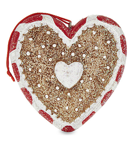 HANGING ORNAMENT Gingerbread heart hanging decoration 7cm