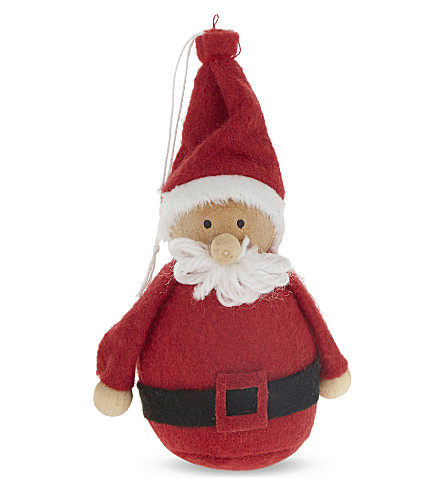 BAUBLE Santa felt hanging decoration 9cm