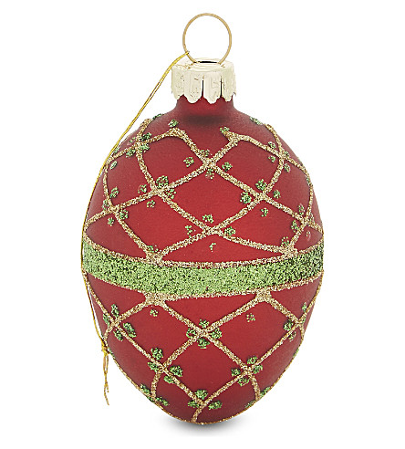 HANGING ORNAMENT Glitter egg bauble 6.5cm