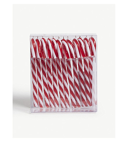 HANGING ORNAMENT Set of 12 mini candy cane Christmas decorations