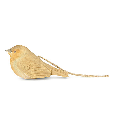 HANGING ORNAMENT Wooden robin hanging ornament 13cm
