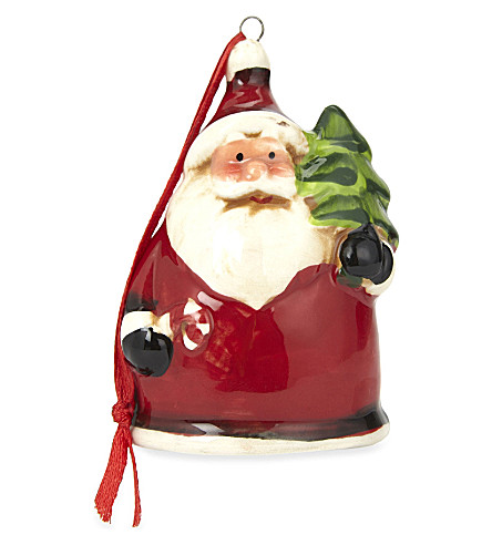HANGING ORNAMENT Ceramic Santa hanging decoration