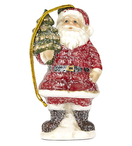 HANGING ORNAMENT Ceramic Santa hanging ornament