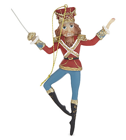 HANGING ORNAMENT Nutcracker soldier bauble 13cm