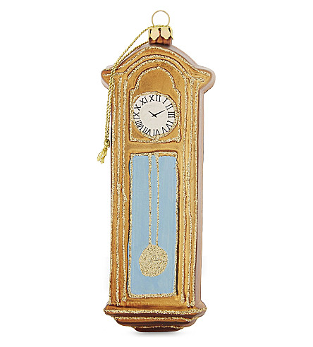 HANGING ORNAMENT Grandfather clock hanging decoration 12.5cm
