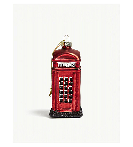 HANGING ORNAMENT London phone box bauble