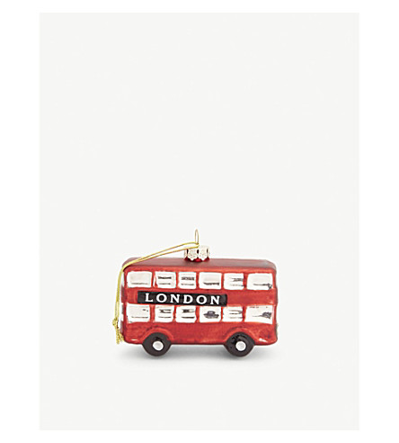 GISELA GRAHAM London bus ornament