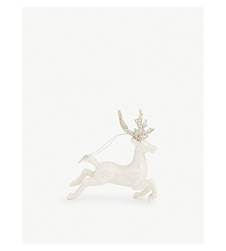 HANGING ORNAMENT Leaping reindeer hanging decoration 13cm