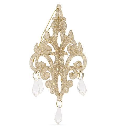 HANGING ORNAMENT Glitter and crystal chandelier 12.5cm