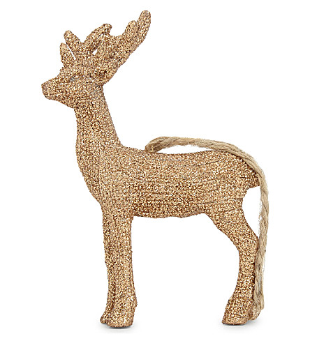 HANGING ORNAMENT Glitter reindeer hanging ornament