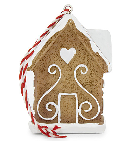 HANGING ORNAMENT Gingerbread house decoration 6cm