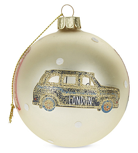 HANGING ORNAMENT London glass bauble 8.5cm